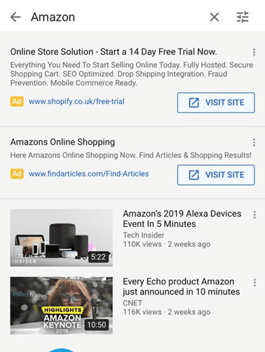 Amazon Ads on YouTube