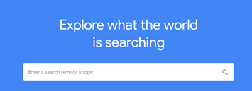 Google Trends search bar