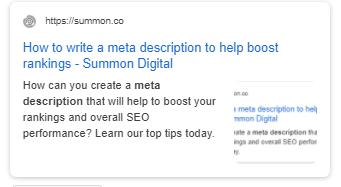 Meta description example through Yoast SEO plugin